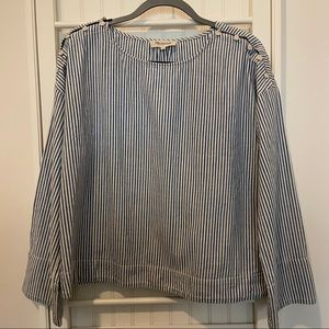 Madewell Blue and White Stripe Top